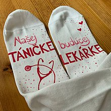 Obuv - Maľované ponožky pre budúcu lekárku - 11463758_