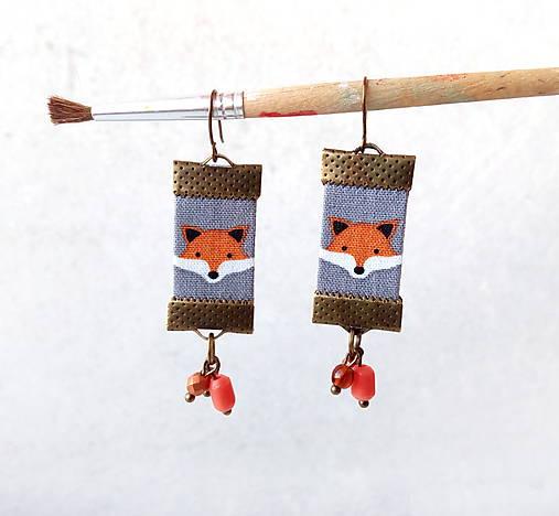 Textilné náušnice Malé líštičky