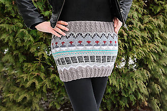 Sukne - Pletená sukňa-mini - 11464931_