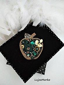 Odznaky/Brošne - Smaragdové jablko - 11464934_