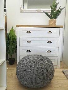 Úžitkový textil - Popletený puf - 11464417_