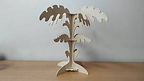 Dekorácie - Stojan na šperky 4 list typ A breza - 11464414_