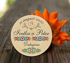 Darčeky pre svadobčanov - Svadobná magnetka - 11467255_