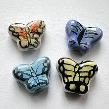 Korálky - Porcelán.motýlik 13x17mm-1ks - 11467407_