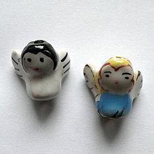 Korálky - Anjelik porcelán 15mm-1ks - 11467408_