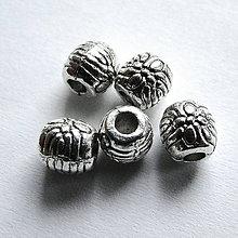 Korálky - Kovová korálka 5,9x6mm-1ks - 11467652_