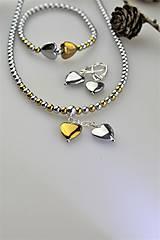 hematit náramok, náhrdelník a náušnice srdiečka - AKCIA!