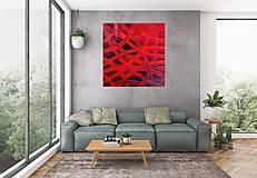 Obrazy - Pred láskou neutečieš - veľký minimalistický abstrakt - 11467453_