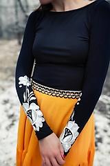 Tričká - Farebné vyšívané tričká Poľana (38 - Biela) - 11466061_