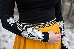 Tričká - Farebné vyšívané tričká Poľana (38 - Biela) - 11466062_