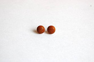 Náušnice - Drevené napichovacie náušnice - Čerešňové ďobky 2 - 11467913_