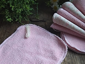 Úžitkový textil - Růžový maxi tampon beránek - 11468220_