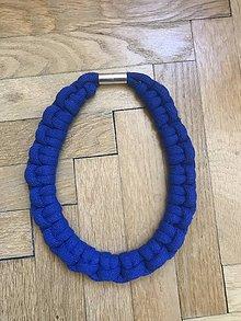 Náhrdelníky - Viazaný náhrdelník -VII. (Modrá) - 11466147_