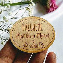 Darčeky pre svadobčanov - Svadobná magnetka . Bird - 11467824_