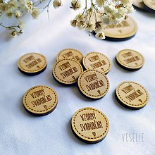 Pierka - Kolieska na svadobné pierka - 11467938_