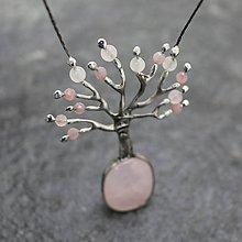 Náhrdelníky - Strom nehy - ruženínový - 11467206_