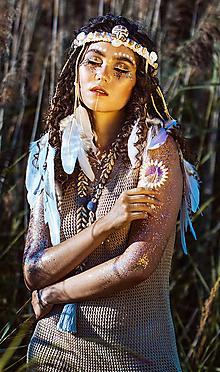 Ozdoby do vlasov - Biela romantická čelenka z kolekcie - 11466699_