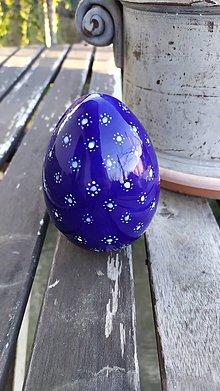 Dekorácie - Keramické modrotlačové kačacie vajce - 11466040_