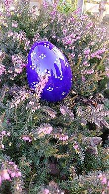 Dekorácie - Modrotlačové keramické vajce kačacie - 11466051_