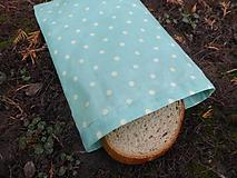 Úžitkový textil - desiatové voskované vrecko-tyrkysové - 11466372_