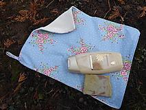 Úžitkový textil - uterák na tvár modrý-biobavlna,bavlna - 11466438_