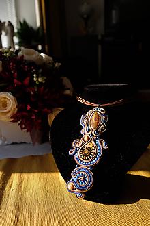 Náhrdelníky - Modrý prívesok - 11468699_