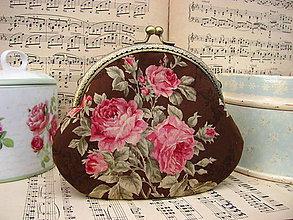 Taštičky - Růže na čokoládě - taštička/kabelečka - 11467475_