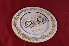 Prstene - Drevený podnos vankúšik na obrúčky gravirovaný 1 - 11467444_
