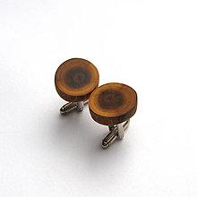 Šperky - Drevené manžetové gombíky - zo špaltovanej hlošinovej halúzky - 11468173_