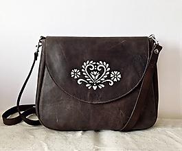 "Kabelky - TALIA ""Folk Ornament"" kožená kabelka s klopou - 11468050_"