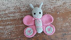 Hračky - motýliky závesné hračky (ružový) - 11467693_
