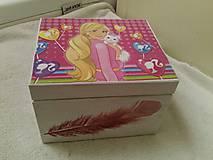 Krabičky - Krabička Barbie. - 11470853_