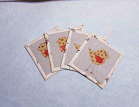 Úžitkový textil - Podložky  s vtáčikom - 11471169_