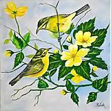 Obrazy - Vtáčiky - 11470954_