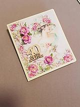 Papiernictvo - gratulačná pohľadnica pre dámu 40 rokov - 11469608_