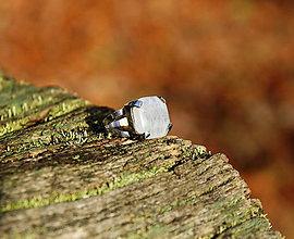 "Prstene - Nerezový prsten... "" Snow "" - 11470569_"