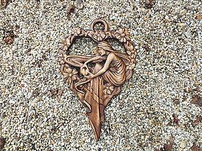 Obrazy - Srdce s vílou - 11469959_