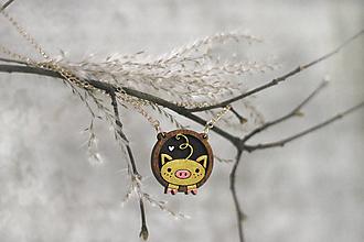 Náhrdelníky - Prívesok Prasačí chvostík (Zlatá) - 11470962_