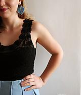 Náušnice - Macramé Náušnice - Baby blue - 11469321_