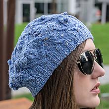 Čiapky - Modrá baretka - 100% tvid - 11469860_