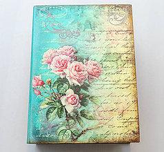 Krabičky - Drevená krabička v tvare knihy - 11470980_