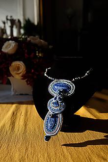Náhrdelníky - Modrý náhrdelník - 11470104_