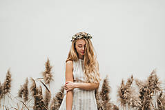 Šaty - CHARLOTTA  Ľanové prírodné a komfortné šaty. - 11471116_