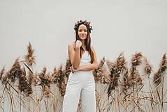 Iné oblečenie - Rosie biely ľanový overal - 11471203_