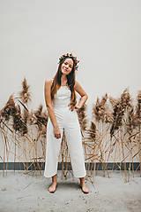 Iné oblečenie - Rosie biely ľanový overal - 11471206_