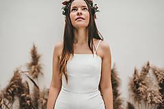 Iné oblečenie - Rosie biely ľanový overal - 11471208_