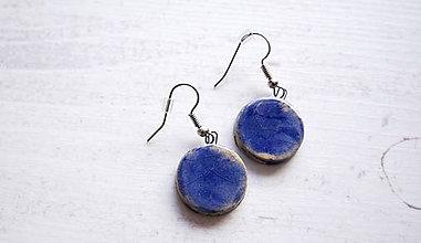 Náušnice - keramické náušnice č.38 (Modrá) - 11472400_