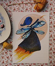 Kresby - Víla vážka - 11474482_