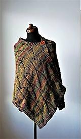 Iné oblečenie - Pončo z tajomného lesa -certifikovaná nemecká priadza s jahňacou vlnou.. - 11475243_