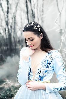 Ozdoby do vlasov - Mosadzná listová zlatá čelenka - Devanka - 11472994_